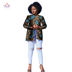 bc0188f51af9e Women African Clothing Dashiki Trench women top African Style Long Sleeve  Outwear Africa Print clothing Plus ...