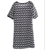Hot Sale Women's Dress Loose Dress Round-neck Dress Short-sleeved Dress Casual Dress-11