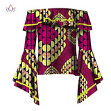 2017 BRW Fashion African Printed Fashion Shirt Female Casual Long Speaker Sleeve Tops African Ankara Batik Women Clothing WY2024