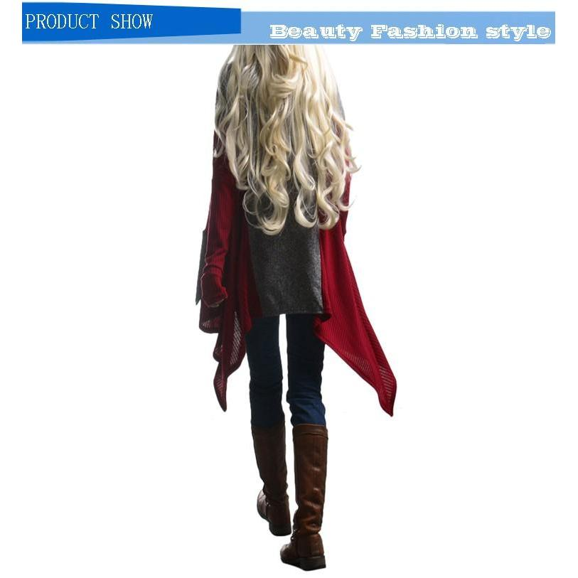 2016 new fashion long sleeve open stitch autumn trench coat duster for women woman overcoat outwear causal asymmetric long sexy