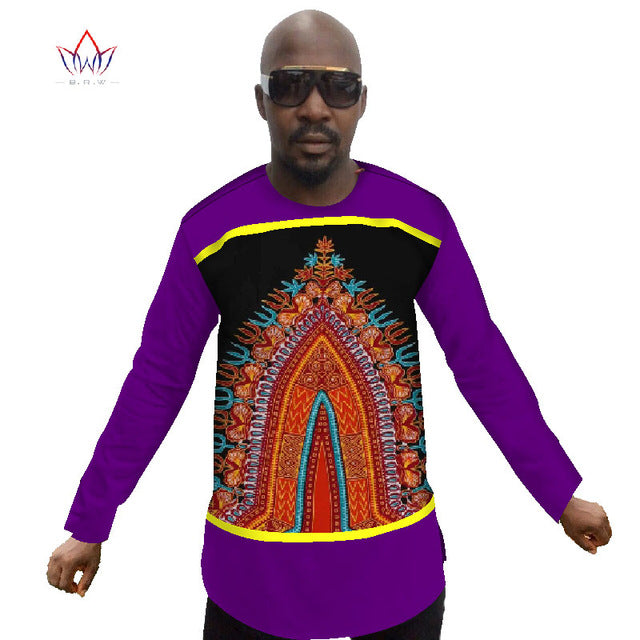 90aaa7749 Summer New Fashion Long Sleeve t Shirt Men Slim Fit T Shirt Dashiki Men  African Print. Hover to zoom