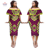 African Dresses for Women, African Print Plus Size Ruffled Dresses