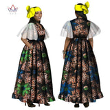 2017 African Dresses Short Sleeve Sexy Dress With Pocket Maxi Dress Women Dashiki African Print Wax Women Voile Clothing WY1265
