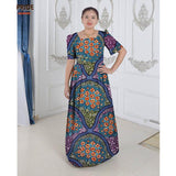 African dresses for women african clothes elegant princess style print cotton floor length private custom plus size waxA622508