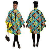 African print trench coat, African Women Traditional Top Dashiki Print Trench Coat