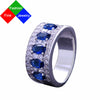 Image of BSL Fine Jewelry Real 925 Sterling Silver Vintage Created Gemstone Blue Sapphire Rings For Women Wedding / Engagement Size 6-10
