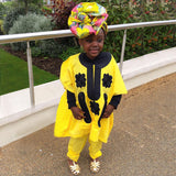 AFRICAN CHILDREN DASHIKI BABY TOP WITH PANTS - Owame