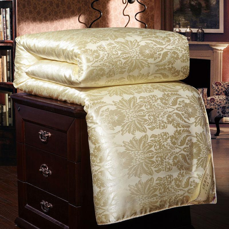 100% Luxury Chinese Silk Quilt Mulberry Comforter Duvet Quilt Blanket Winter Summer Pure Silk Blanket Comforters King Queen Twin bedding
