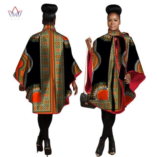 2017 Autumn African Trench Coat for Women Plus Size African Clothing Africa Print Outfits Dashiki Office Outwear Clothing WY1267