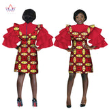 African Women Clothing Mini Party Dresses African Bazin Riche Plus Size Women Fashions Dresses Clothing BRW WY2054