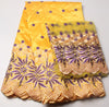 Image of High Quality African George Fabric + India Guipure Beaded Lace - Owame
