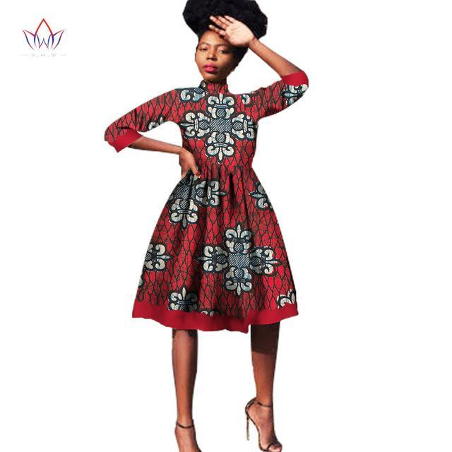 2017 African Dress Summer Vintage Maxi Dashiki bazin Knee-length 6xl africa woman o-neck clothing above knee, mini Natural 1534