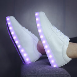 Beautiful Summer Flash Led shoes, fluorescent kids usb recharge luminous sneakers Unisex led light shoes 0w88