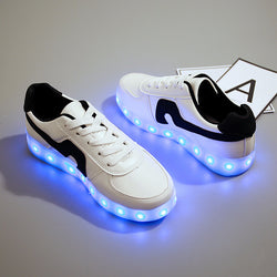 Summer Flash Led shoes Colorful fluorescent kids usb recharge luminous sneakers Unisex led light shoes 0w88