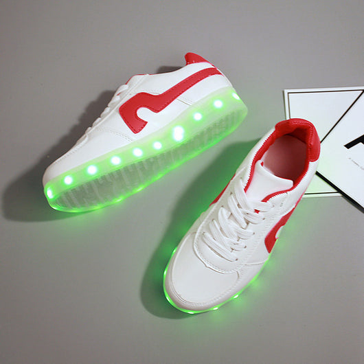 Summer Flash Led fluorescent kids usb recharge luminous sneakers Unisex led light shoes 0w88