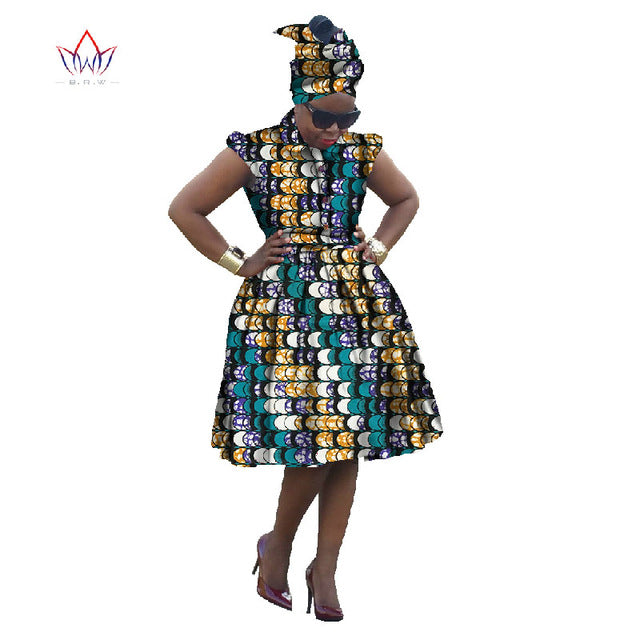African Traditional Dashiki For Women African Print Ball Gown Dress