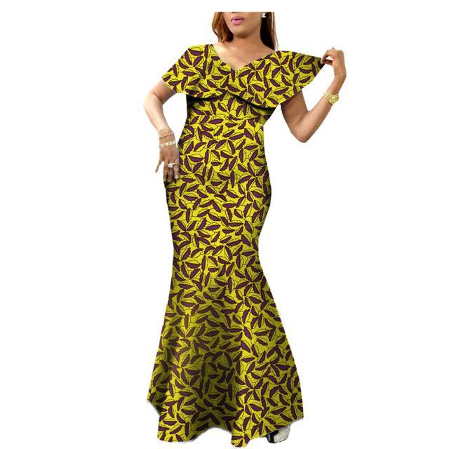 African women dress private custom long dress ankle length plus size dresses 0WA123
