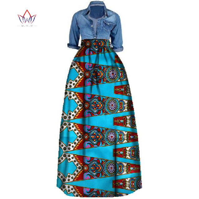 267ce507daf ... African Print Summer Skirt for women Plus Size Dashiki African  Traditional Clothing Ball Gown Casual Skirts ...