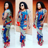 African Sexy Party  Plus size  Elastic Dress For Lady