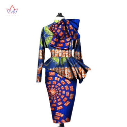 African Clothes,Ankara Crops Tops and Sleeve Two Piece Set Plus Size: M,L,XL,XXL,3XL,4XL,5XL,6XL