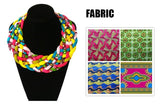 Handmade Bib Necklace - African Jewelry - Ethnic Jewelry Ankara jewelry - Ankara Necklace - Ankara Multistrand Necklace