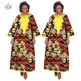African Traditional  Dashiki Long Plain Yellow Material Design Dresses OWY15