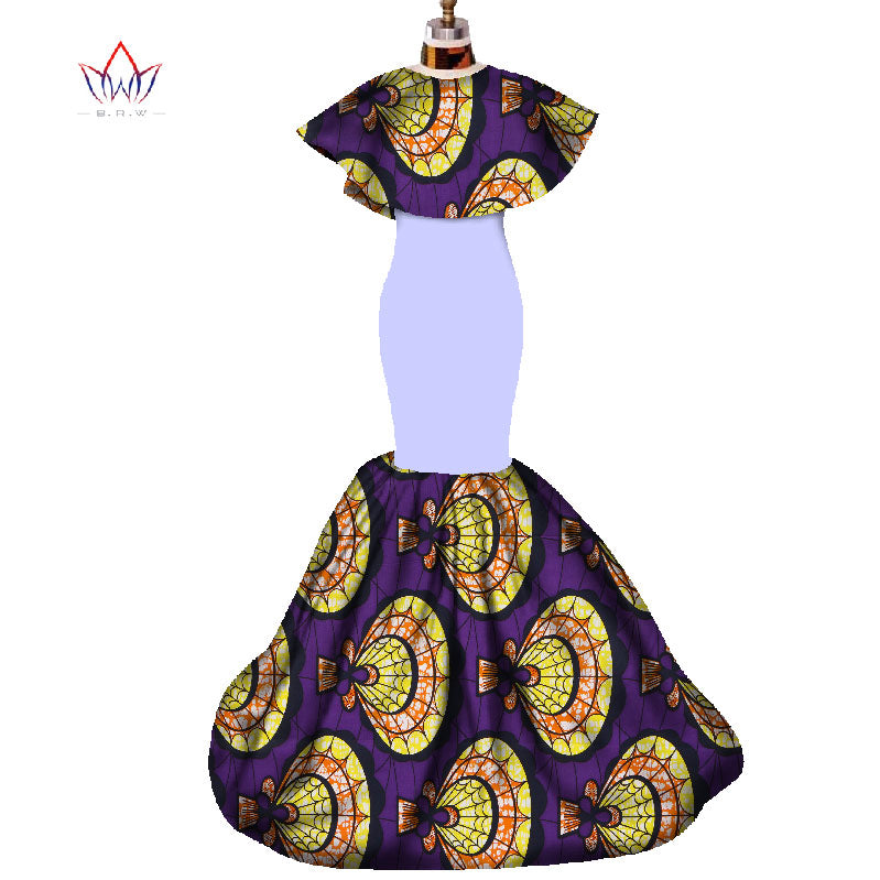 Africa Print Long Ankara Dresses Patchwork Dashiki Clothing for Women - Owame