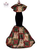 Africa Print, Long Ankara print prom Dresses Patchwork Dashiki Clothing for Women - Owame
