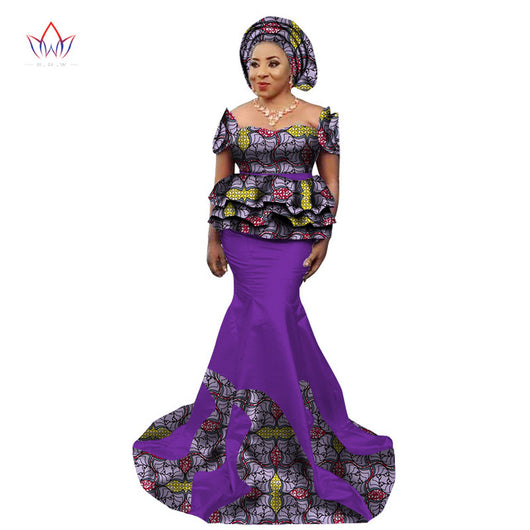 African Skirt and Blouse Set for Women, Plus Size Traditional African Clothing - Owame