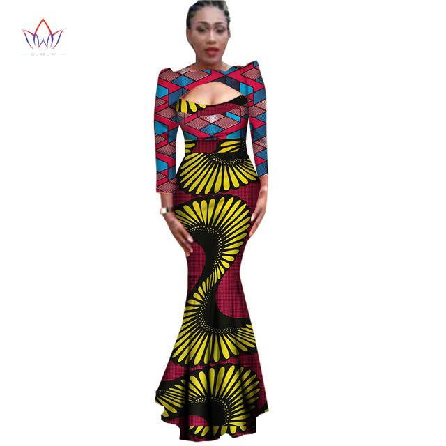 83bf5898c3f99 ... 2018 African Ankara Print Long Sexy Dresses For Women