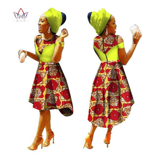 2017 African Dress for Women Summer  Vintage Maxi Dress Dashiki african bazin nation dress O-Neck women clothing none  WY1228