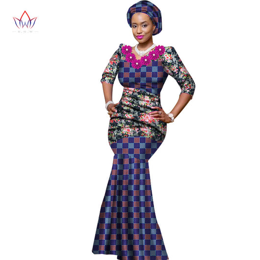 African print occasion dress/ African prom dress/African wedding dress/ Ankara prom dress/African clothing/ Ankara mermaid Long dress