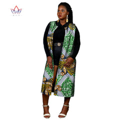 Ankara Women African Traditional Clothing Fashions Tops Dashiki Africa Print  Coat Plus Size M-6XL ... deae68e3b4ba