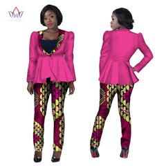 e24284da7a Africa Style New Fashion 2 Piece Set Women African Clothing Traditional  Tops and Long Pants Dashiki ...