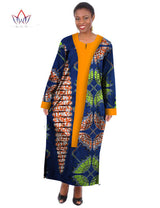 African dresses for women Dashiki women clothing, o-neck Plus Size african dress ankle-length-0wame12