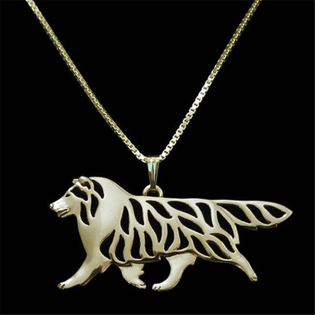 Sheltland sheepdog movement Pendant Animal Pendant Silver Plated Necklaces Cute Women Dog Jewelry Wholesale 30 Pcs/lot New