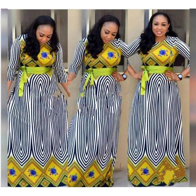 2017 Summer Traditional African clothing Women Print Size Hat Dashiki Dress For Lady 008FG