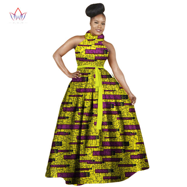 ... Women Dress Casual Free Shipping African Print Dresses Big Size M-6XL  Sleeveless Halter Dress ... 5278ee88d7bf