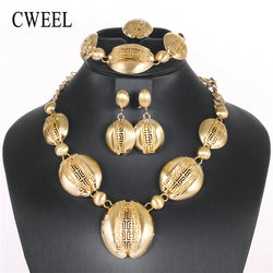 CWEEL Jewelry Sets For Women African Jewelry Set Trendy Gold Color Turkish Ethiopian Wedding Bridal Indian Costume Jewelry Set