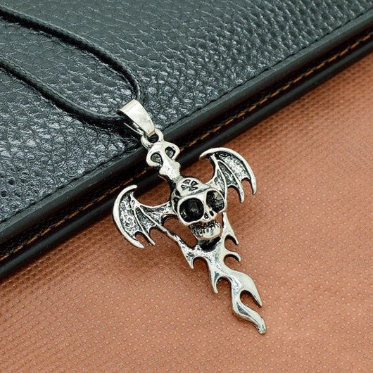Stainless Steel Skull Cross Necklace Pendant Necklaces Jewelry