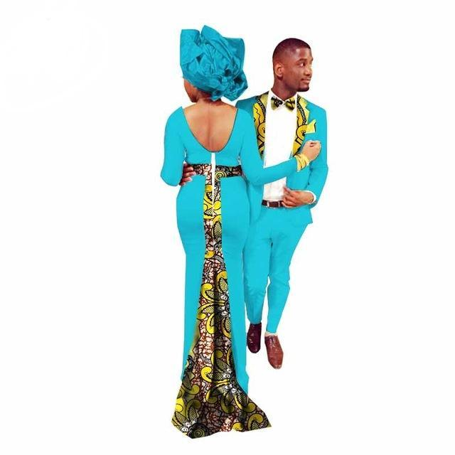 2017 Rushed African Dresses For Women In African Clothing Africa Bazin Riche 2017new Fashion African Couples Suits(women+men)