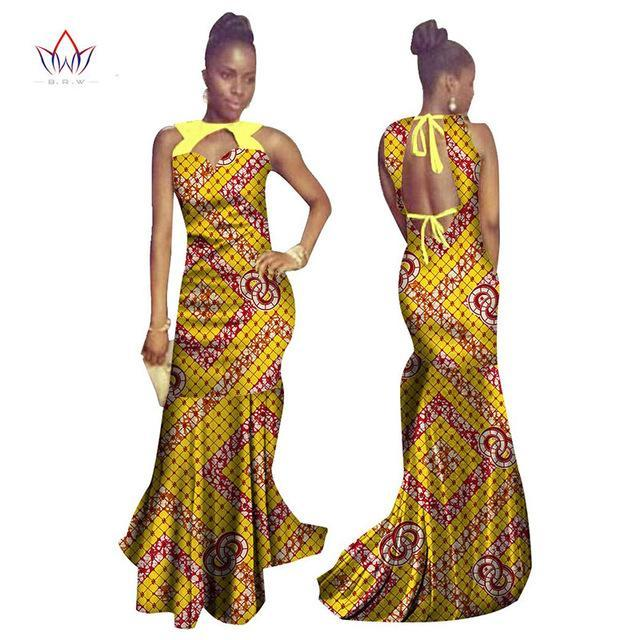 8845c07ff2db3 ... 2017 BRW summer Bodycon cotton long Dress African Dashiki for Women  Bazin Riche Maxi Dress Femme ...