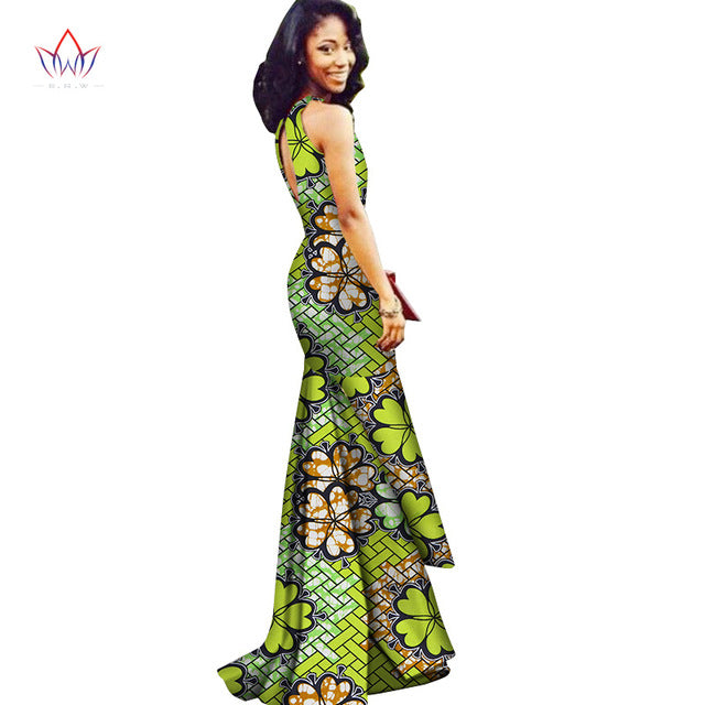 ... BRW 2017 New African Dresses for Women Vestidos Elegant Sexy African Clothes Dashiki Long Dress Women ...