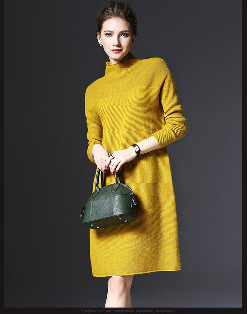 1c08327e208 spring winter long sleeve loose pure color knitted dresses ladies red new  years eve dresses womens. Hover to zoom