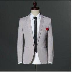 2018 New Arrival Mens Fashion Stripes Print Slim Fit Blazers Male Casual One Button Suit Jackets OStage Wear Coat M-3XL