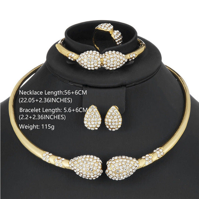 Choker Necklace Bridal Jewelry Sets Indian African Beads Jewelry Set Ethiopian Costume Dubai Jewellery Set For Brides
