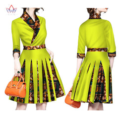 BRW 2017 New Autumn Africa Dresses for Women Bazin Long Sleeve African  Clothes Dashiki Sweet Traditional ... 1615f72e3e8d