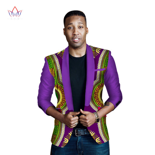 African Clothing Dashiki Print Suit for Men Casual Jacket Coat Fashion Blazer Men Brand Clothing Slim Elegant Plus Size WYN262