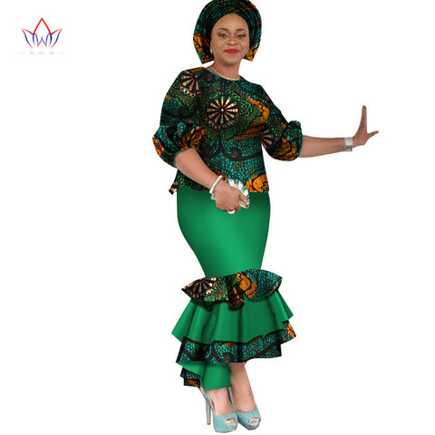 6d2ea01a1e2 summer traditional african clothing dashiki O-Neck women african skirt  suits natural ankle-length two piece set regular WY2529