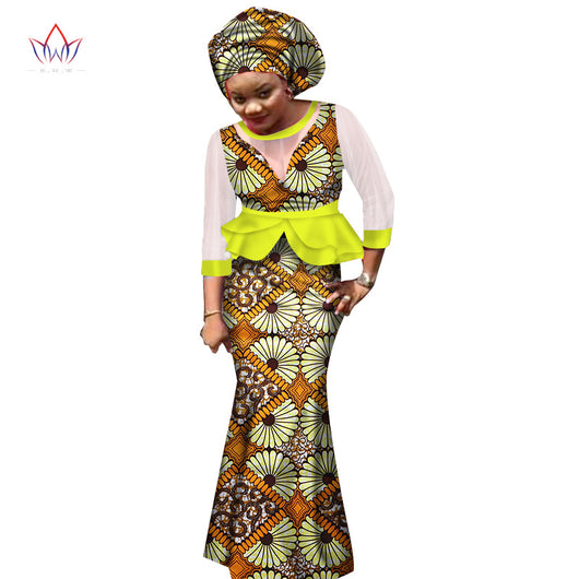 Ankara skirt and blouse styles kitenge, african ankara skirt sets for women, african fabric skirt suit top+skirt+headwrap wedding